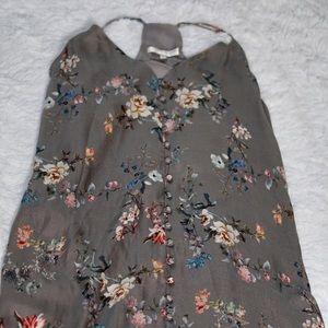 Lavender Brown Brand Silk Floral Dress